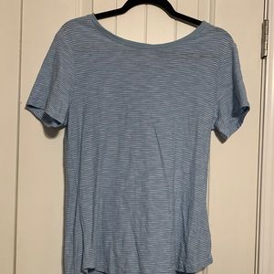 Old navy light blue and white striped t-shirt